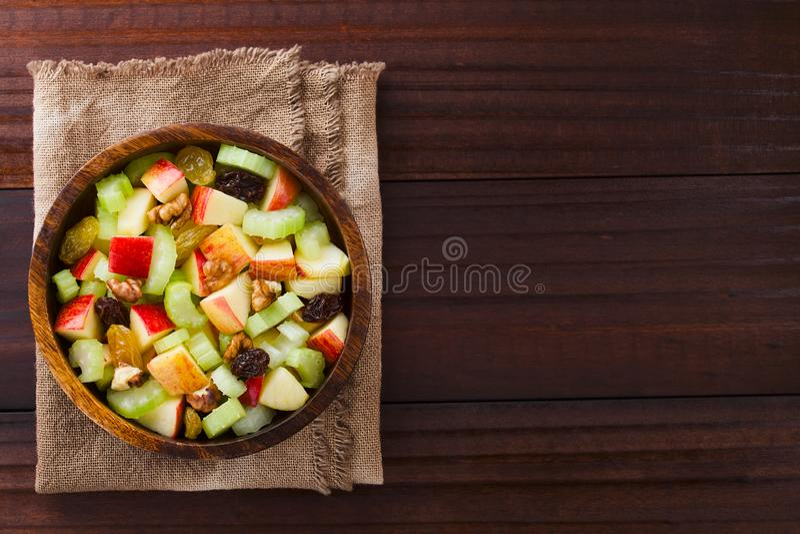 Fresh Vegan Waldorf Salad stock photography