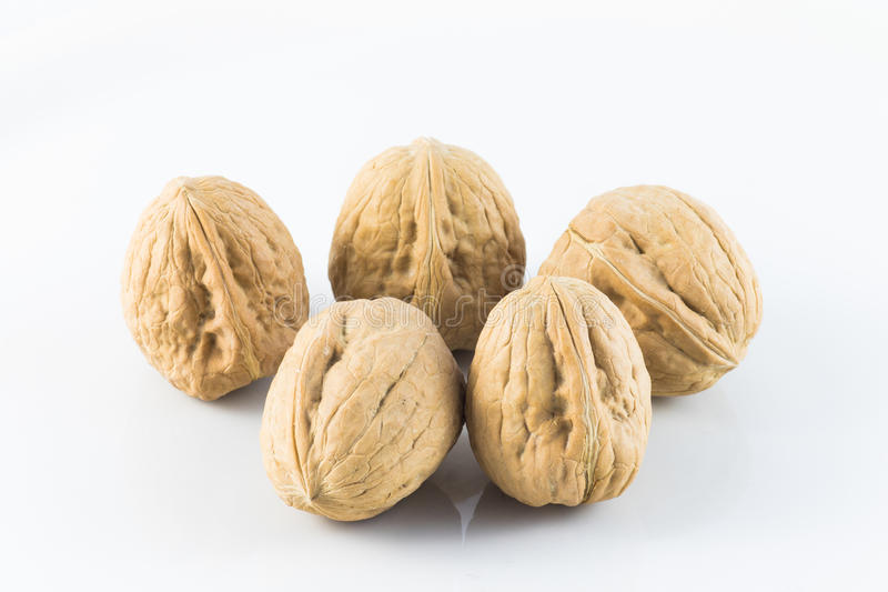 Fresh walnuts royalty free stock image