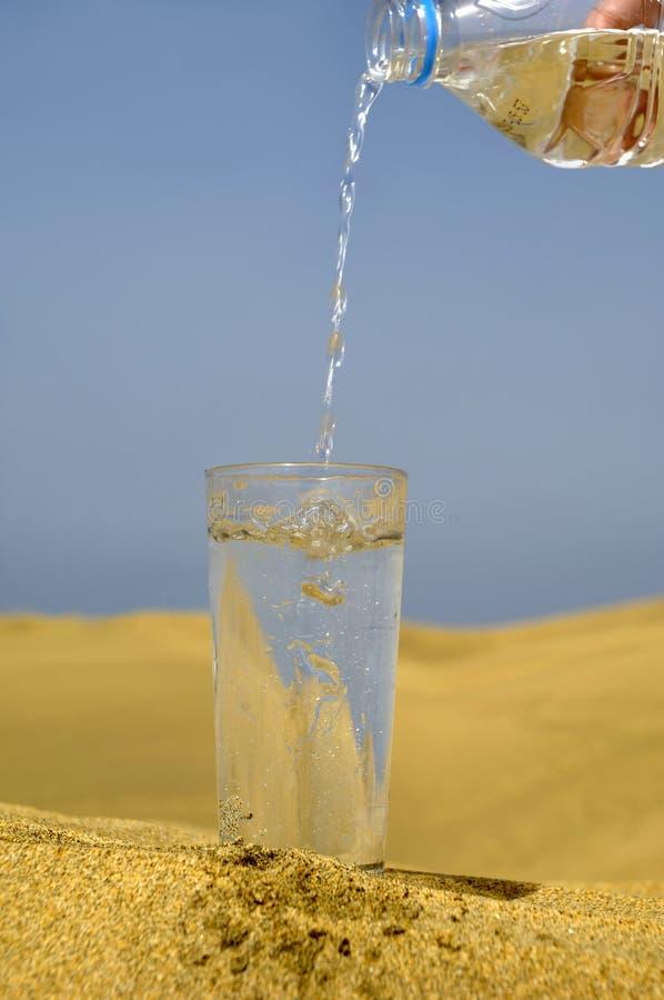 Fresh water and desert stock image