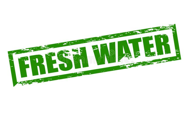Fresh water. Rubber stamp with text fresh water inside, illustration stock illustration