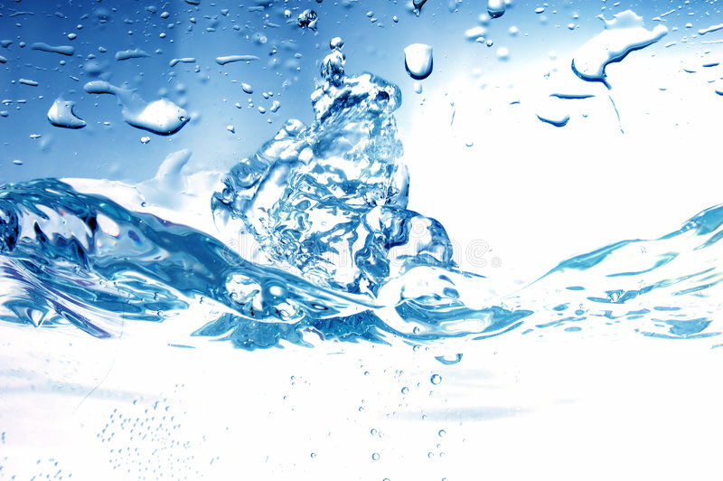 Fresh water splash stock images