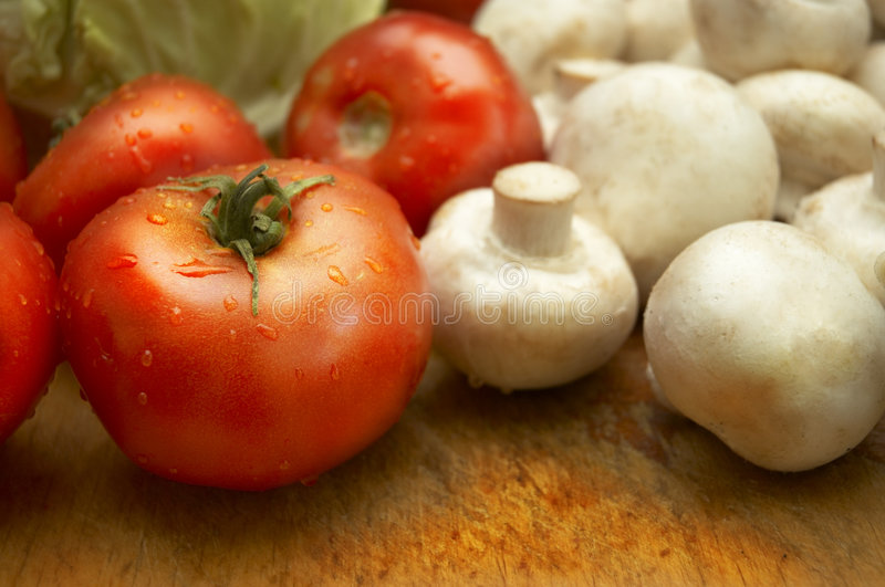 Fresh wet vegetables stock photo