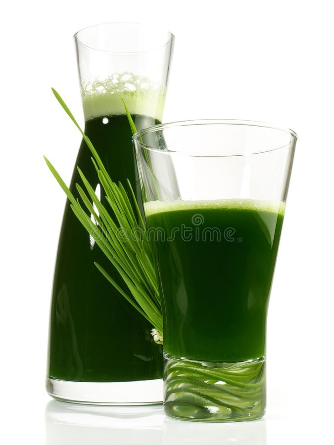 Fresh Wheatgrass Juice - Healthy Nutrition royalty free stock images