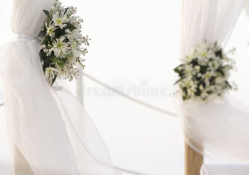 Download Fresh White Flowers As Wedding Decoration On Beach Stock Image - Image of foliage, beach: 28157483