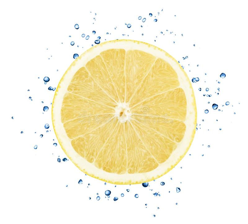 Fresh white grapefruit with water splashes isolated on white background. With clipping path stock photography
