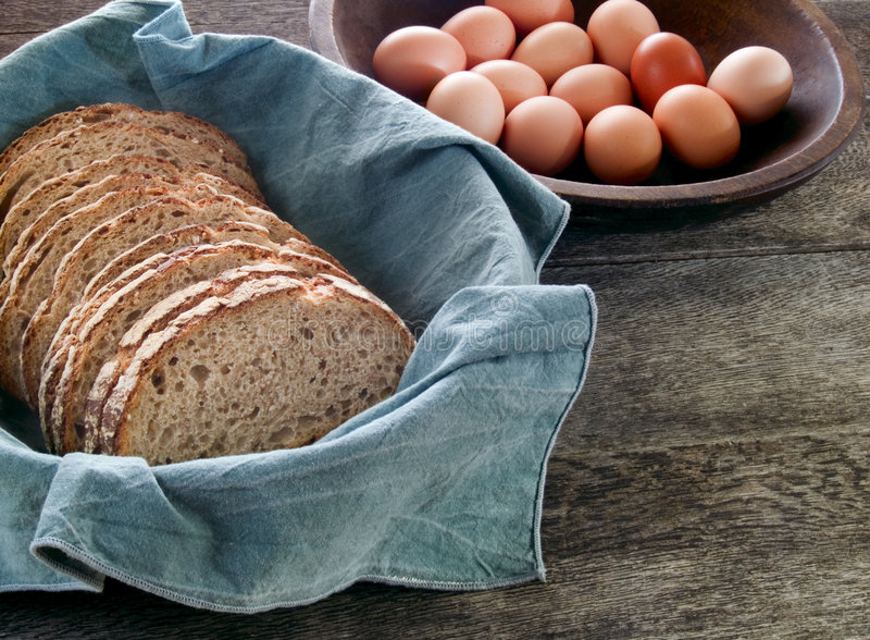 Download Fresh Whole Wheat Bread And Eggs Stock Photo - Image: 7485338
