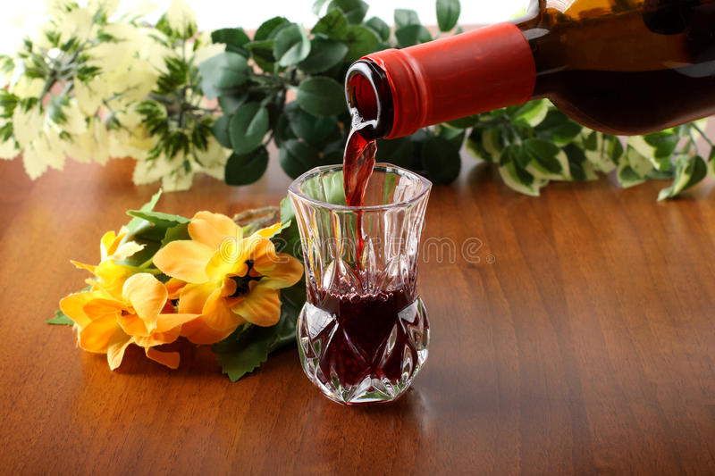 Download Fresh Wine In Crystal Glass Stock Photo - Image: 24321740