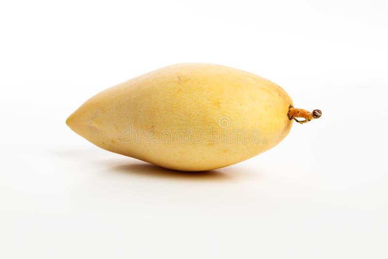 Fresh yellow mango. With white background, close up stock photos