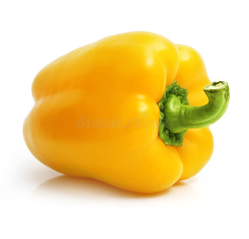 Free Fresh Yellow Pepper Isolated On White Royalty Free Stock Photo - 10369245