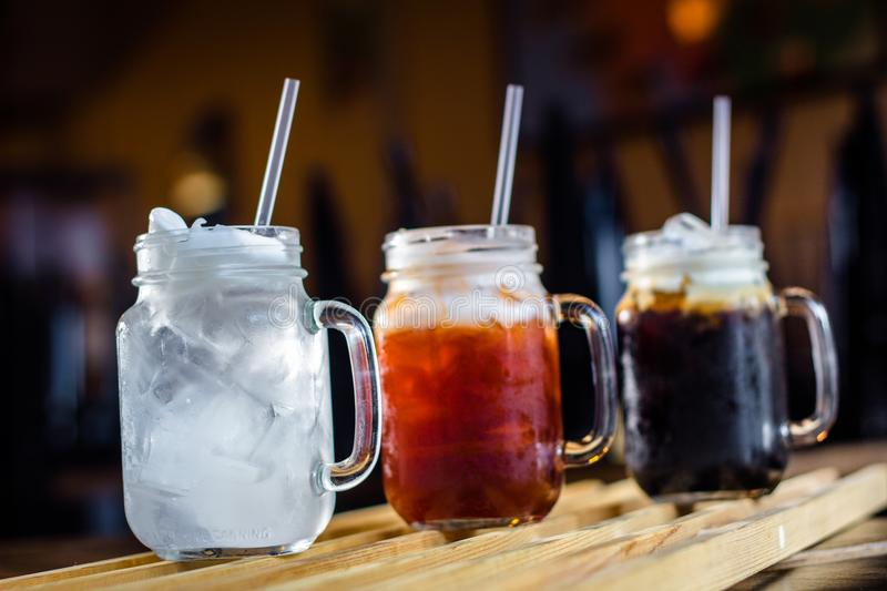 Refreshment with Thai beverages royalty free stock images