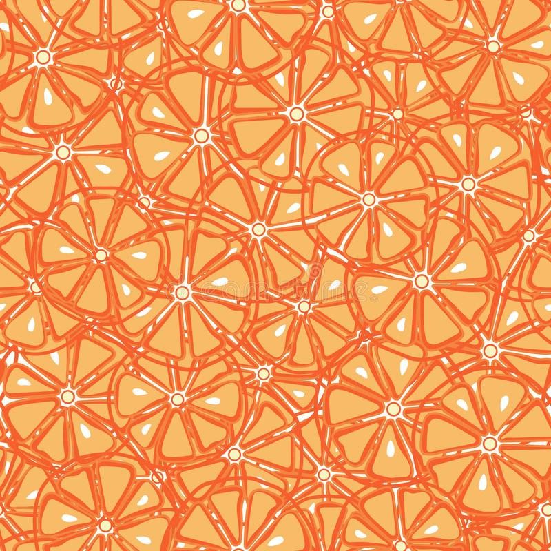 Fresh, yummy and sliced oranges seamless pattern. Cute green lemons seamless pattern royalty free illustration