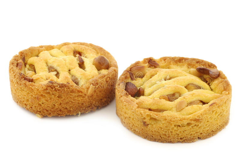 Freshly baked apple and nuts cakes royalty free stock photos