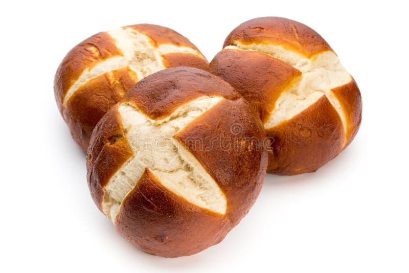 Freshly baked bread isolated on white background. stock photography