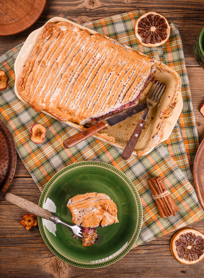 Download Freshly Baked Bread Pudding Stock Photo - Image: 83708113