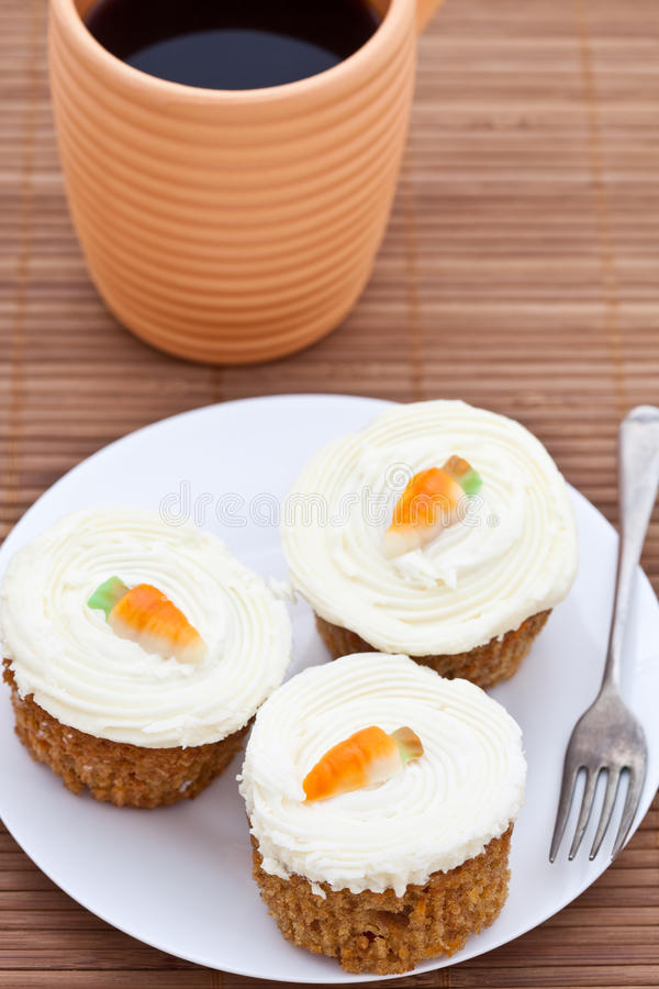 Freshly Baked Carrot Cakes Stock Photography