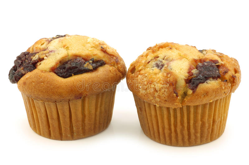 Freshly Baked Cherry Muffins Stock Photography