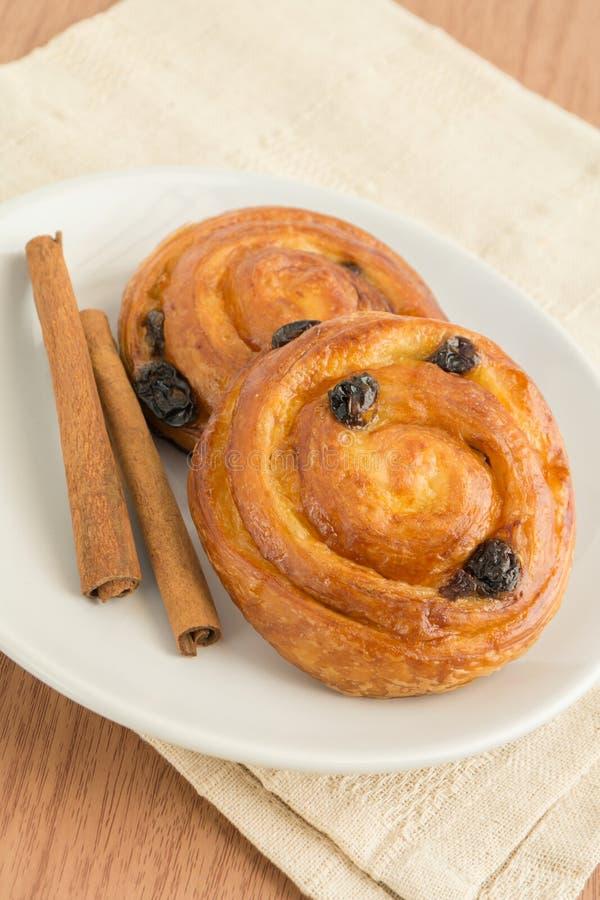 Download Freshly Baked Cinnamon Rolls Stock Image - Image of food, plate: 35805011