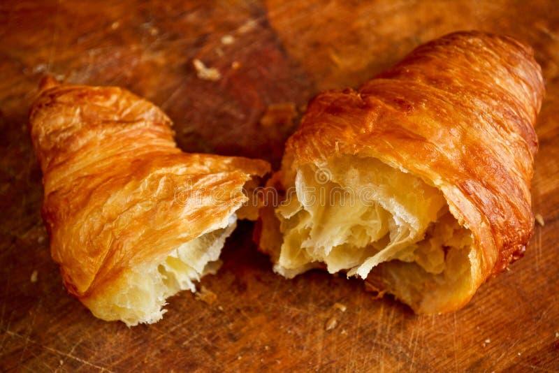 Freshly baked croissant stock photography