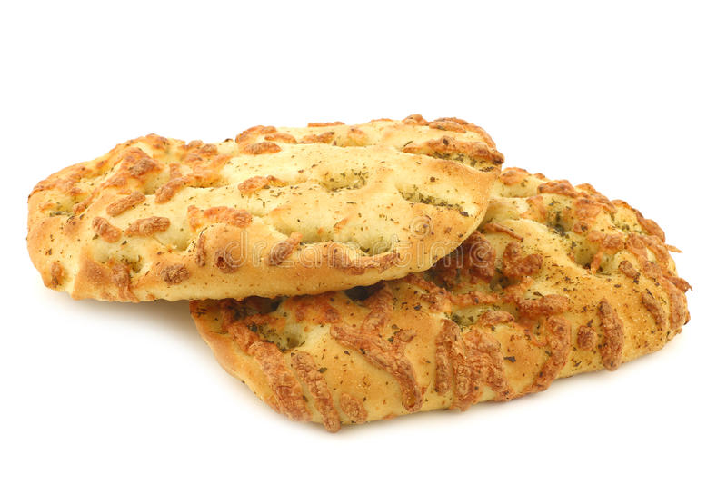 Freshly baked focaccia bread royalty free stock photography