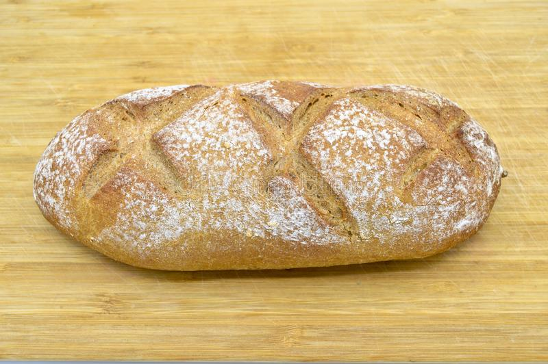 Freshly baked fresh and delicious traditional rye bread. stock images