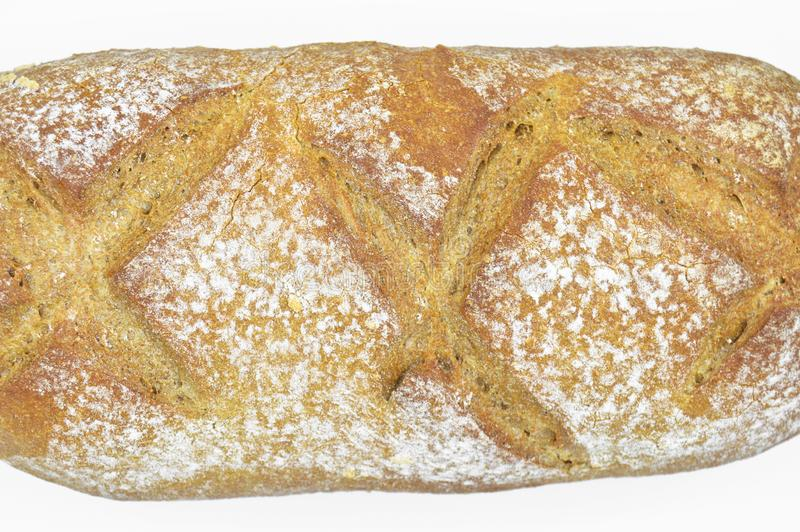Freshly baked fresh and delicious traditional rye bread. royalty free stock photo