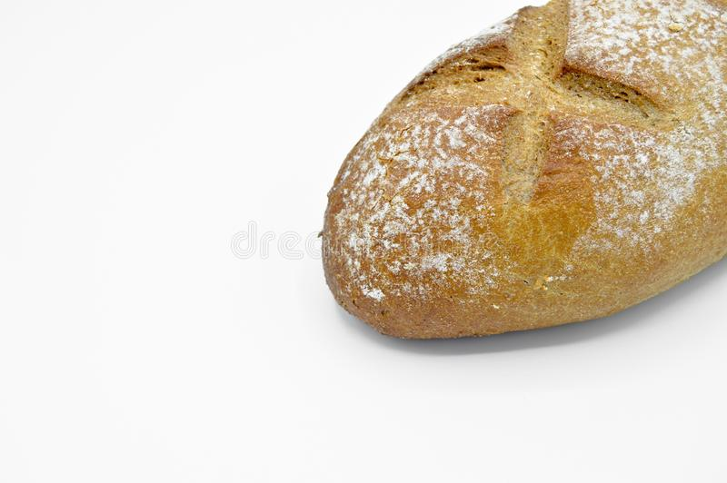 Freshly baked fresh and delicious traditional rye bread. stock image