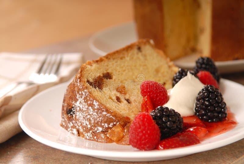 Freshly baked Italian Panettone Christmas Bread royalty free stock image
