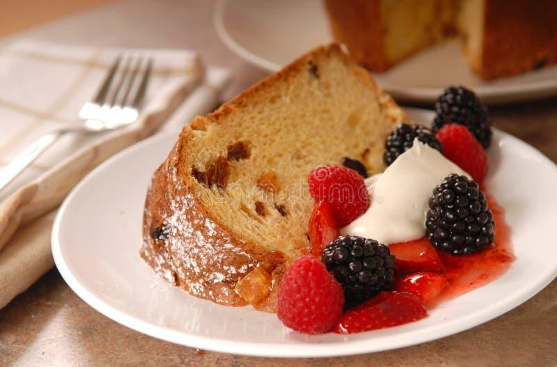 Freshly baked Italian Panettone Christmas Bread royalty free stock photos