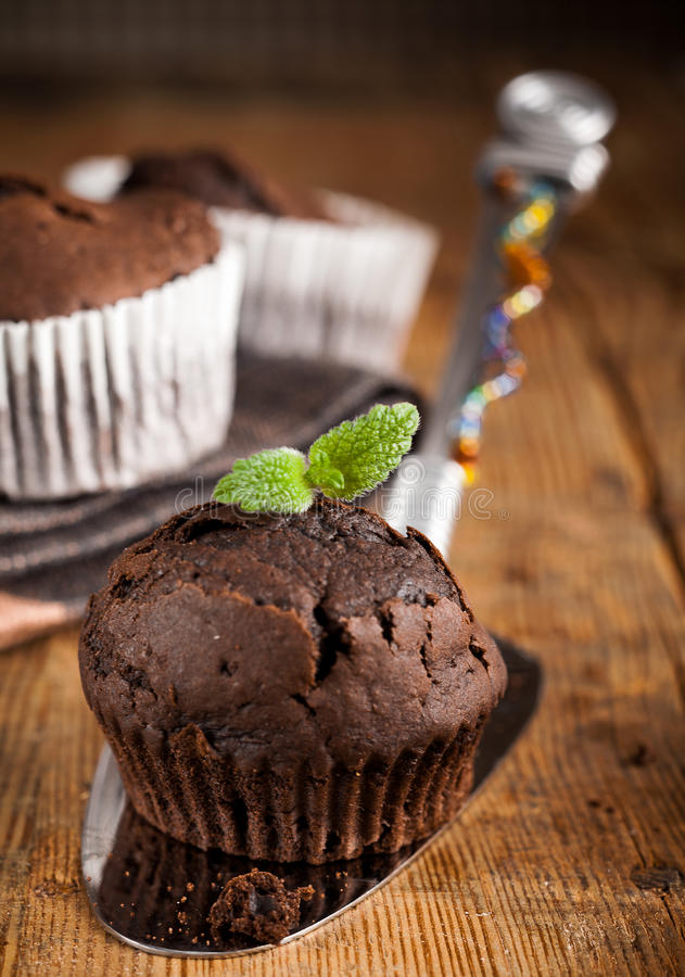 Freshly baked muffin royalty free stock images