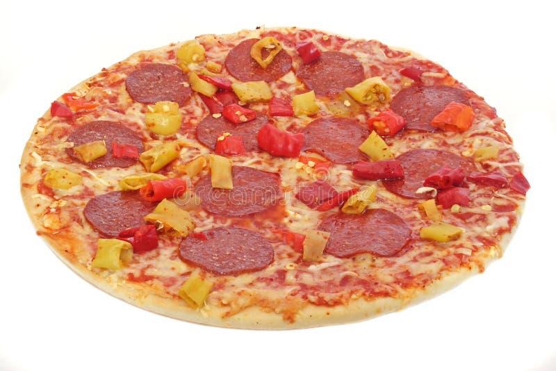 Freshly-baked pizza stock photography