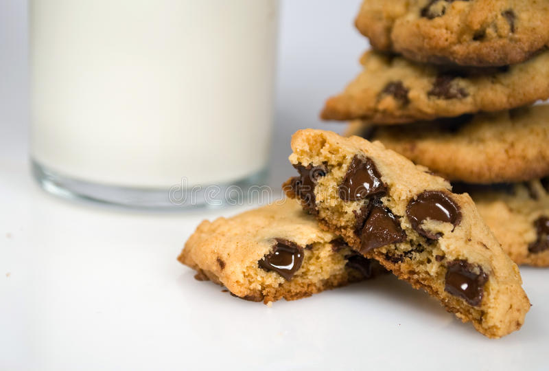 Download Freshly Bakes Chocolate Chip Cookies Stock Image - Image of milk, sugar: 13631625