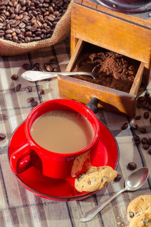 Freshly brewed coffee served royalty free stock image