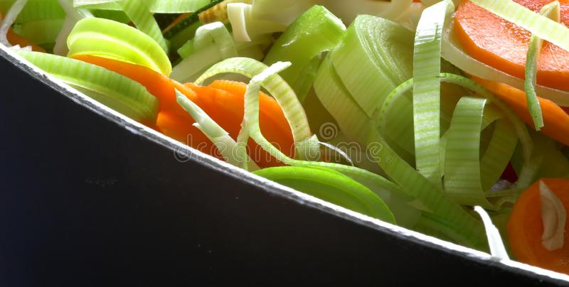 Freshly Chopped Vegetables royalty free stock image