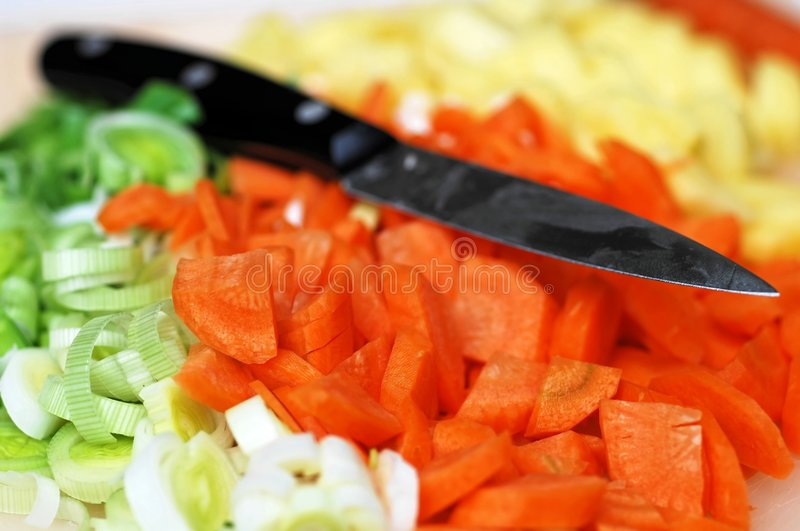 Freshly chopped vegetables royalty free stock images