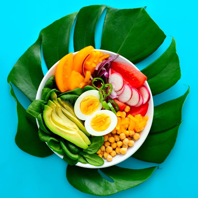 Freshly cooked Buddha bowl salad royalty free stock images