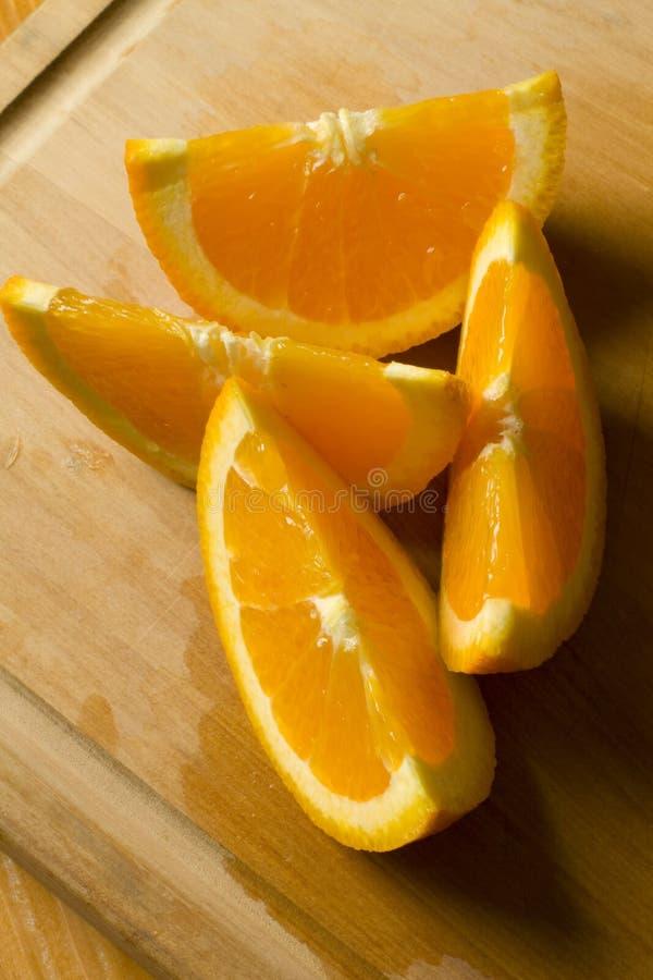 Free Freshly Cut Orange Wedges Stock Photography - 17376832