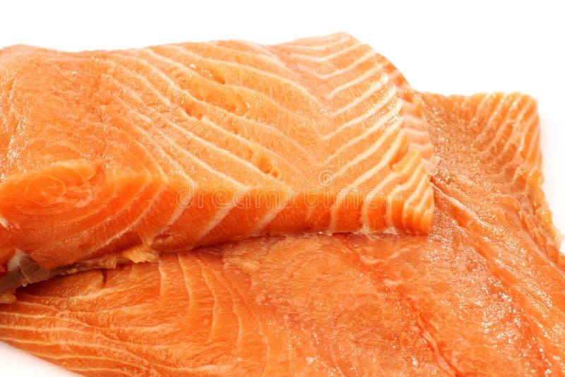 Freshly Cut Salmon Fillets Stock Image