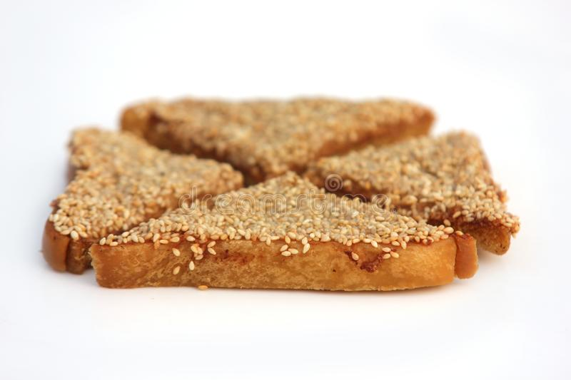 Sesame Prawn Toast stock images
