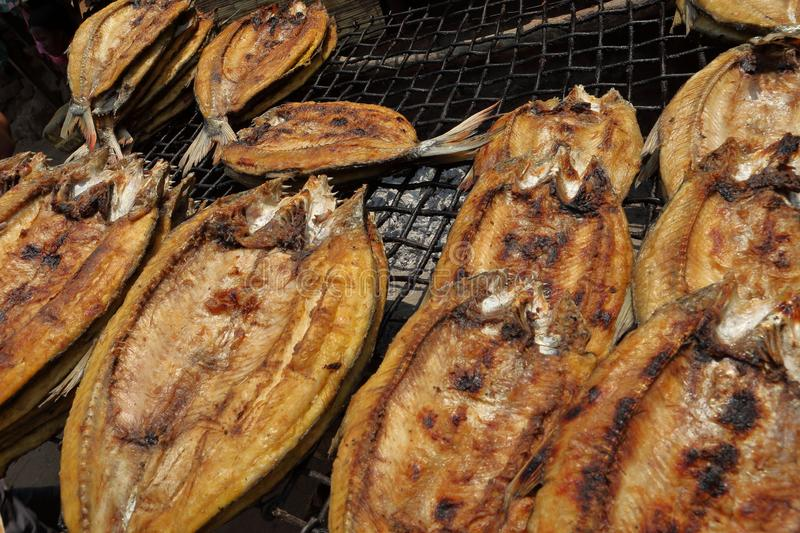 A Freshly Grilled Fish royalty free stock photo