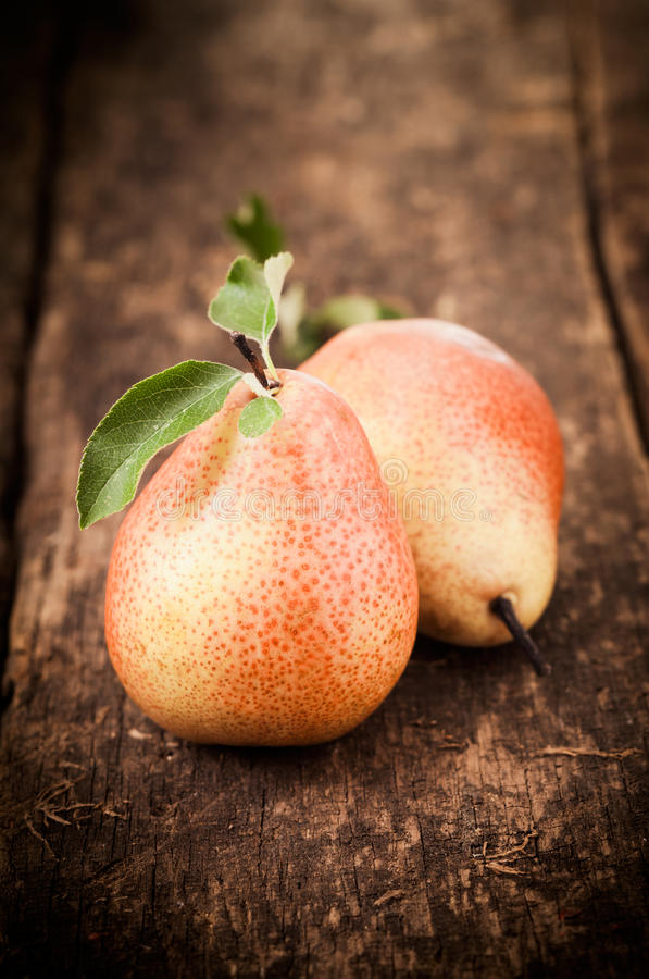 Download Freshly Harvested Ripe Red Pears Stock Photo - Image: 26007124