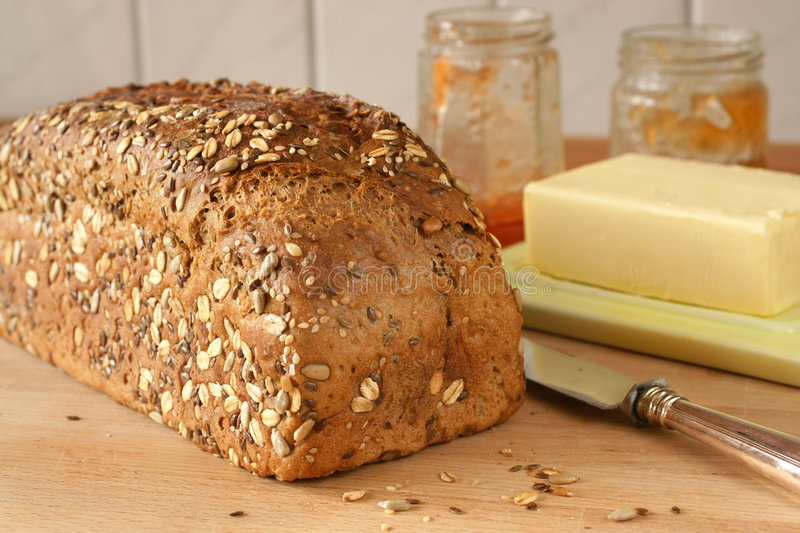 Download Freshly homemade bread stock image. Image of cereal, healthy - 8352321