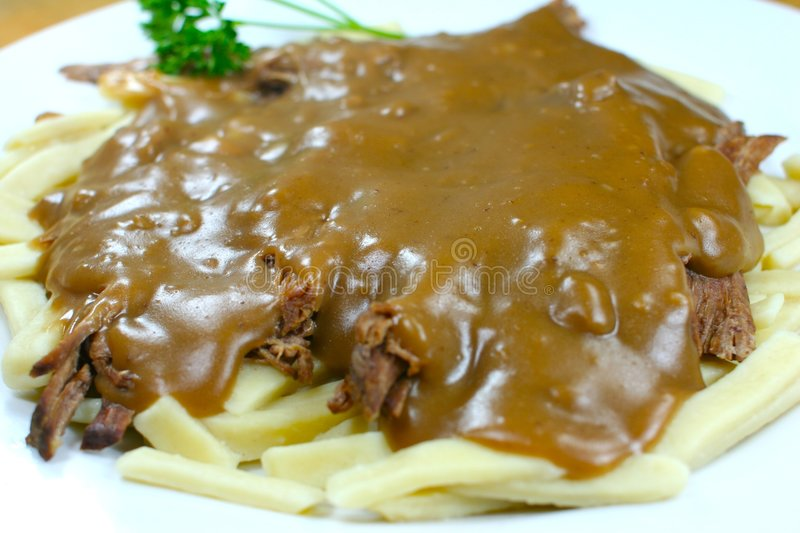 Freshly made dinner with beef stock photography