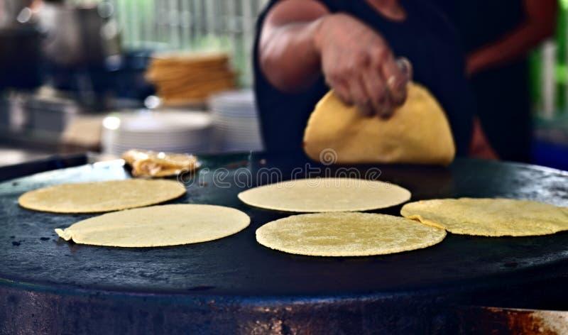 Freshly made Tortillas stock photos
