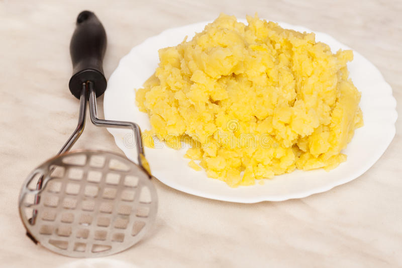 Freshly mashed potatoes stock photography