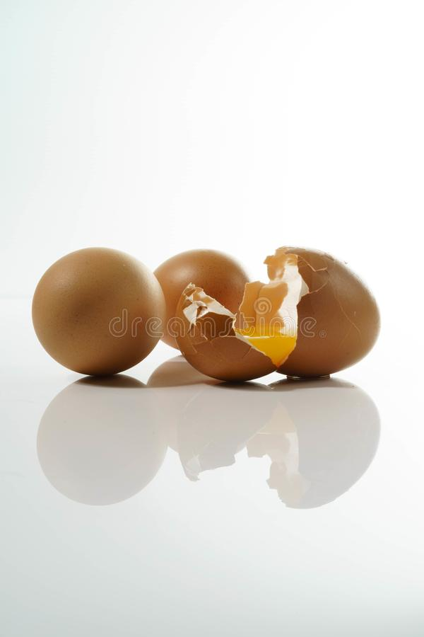 Home Natural Organic Raw Eggs royalty free stock photography