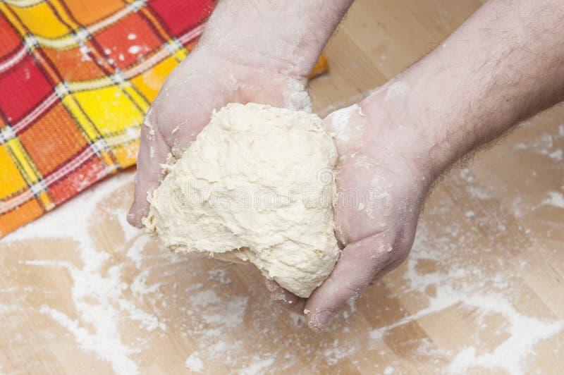 Freshly prepared bread dough stock images