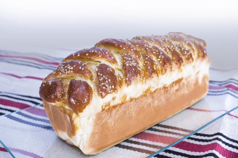 Prepared homemade bread. royalty free stock images
