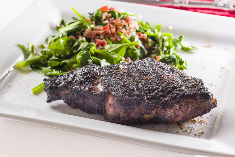 Freshly Seared Ribeye Steak se stock images