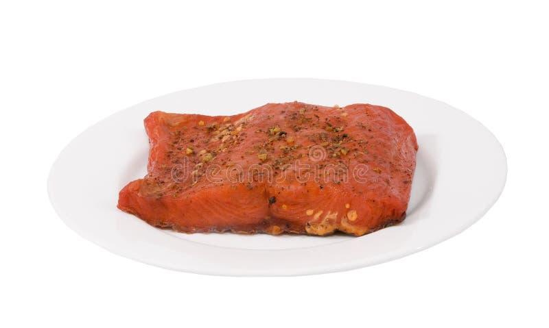 Download Freshly smoked salmon stock photo. Image of dish, recipe - 25725332