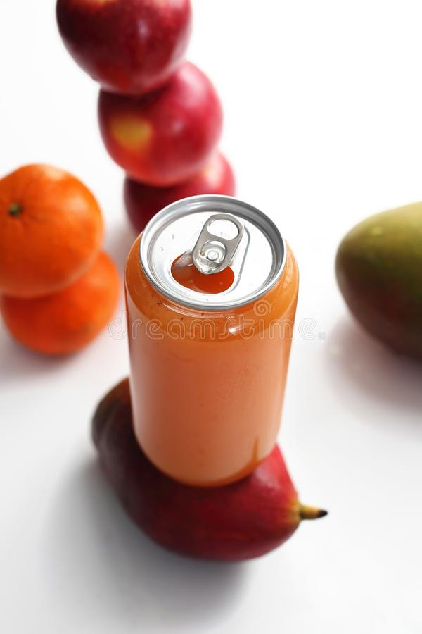 Freshly squeezed fruit juice, healthy and colorful juice diet. royalty free stock photo